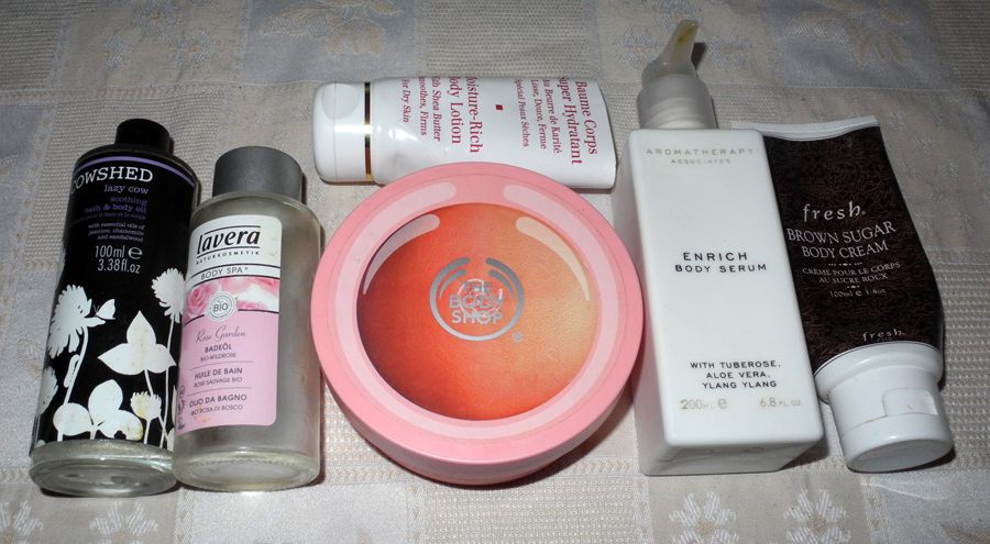 Autumn beauty empties body creams and bath oils makeup4all