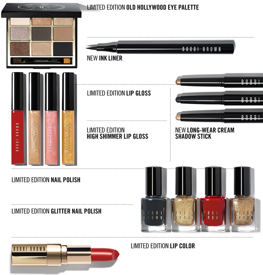 Bobbi Brown Old Hollywodd Makeup Collection for Christmas 2013 products