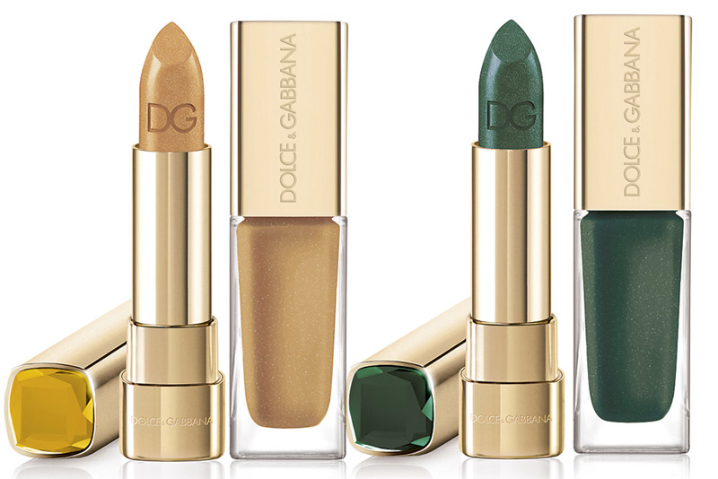 Dolce & Gabbana Sicilian Jewels Makeup Collection for Christmas 2013 Topazio and Emerald