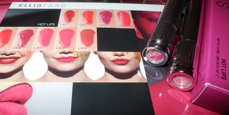 Ellis Faas Hot Lips Review and Swatches L406 and L408 rave 1