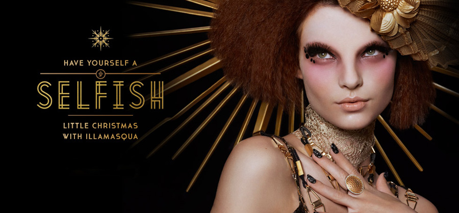 Illamasqua Makeup Collection for Christmas 2013 promo