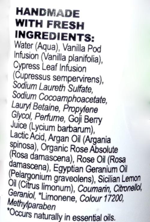 Lush Rose Jam Rose Jam  Review ingredients