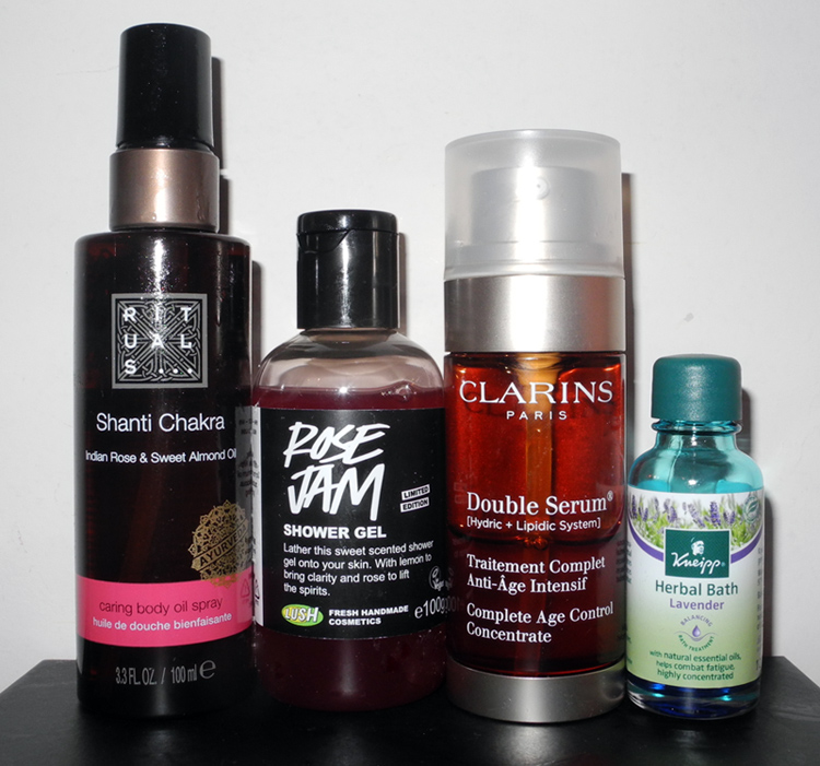 November 2013 beauty favourites Lush, Clarins, Rituals, Kneipp