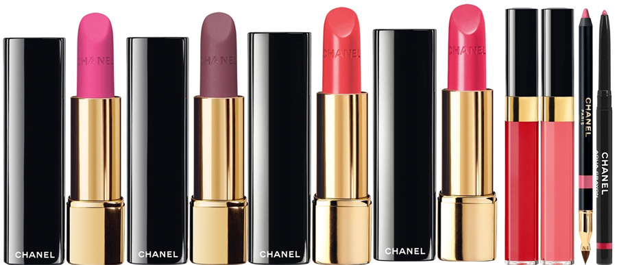 Chanel  Notes De Printemps Makeup Collection for Spring 2014 lip products