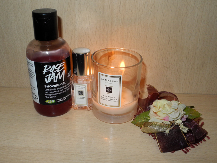 Roses scented beauty products jo malone red roses cologne Lush Rose Jam shower gel