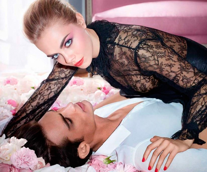 YSL Flower Crush Makeup Collection for Spring 2014 Cara DElevigne