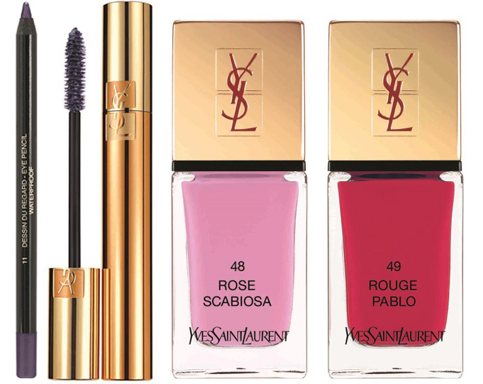 YSL Flower Crush Makeup Collection for Spring 2014 eyes and nails