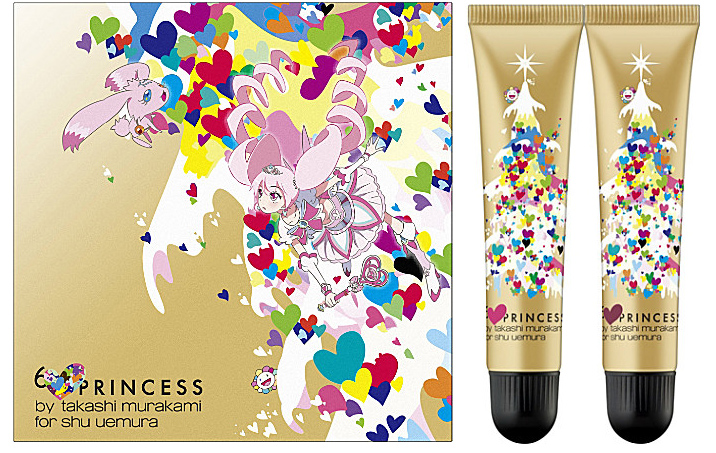 shu uemura and Takashi Murakami Christmas 2013 Makeup Collection lip & cheek tint colour