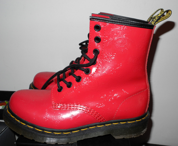 Dr. martens red shoes