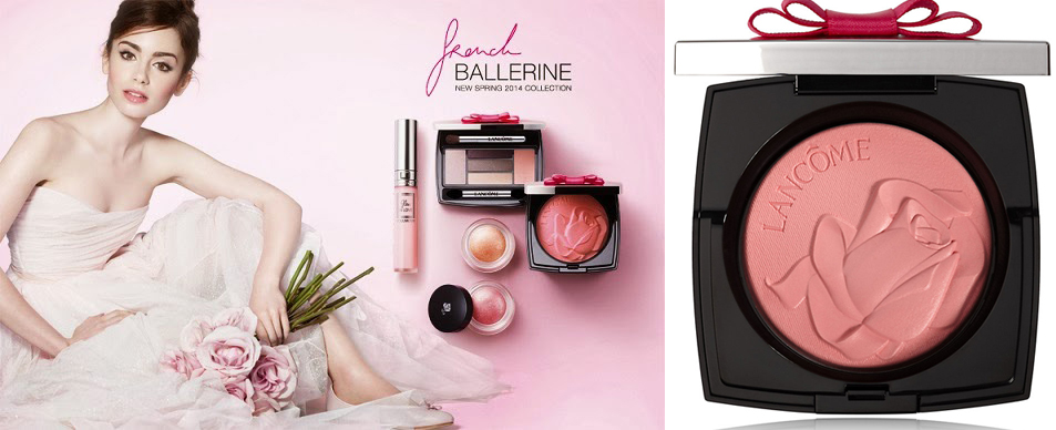 Lancome French Ballerine Makeup Collection for Spring 2014 promo with Lily Collins