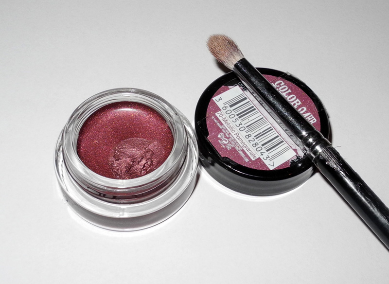 Maybelline Color Tattoo 24HR in  Metallic Pomegranate Review and Swatches