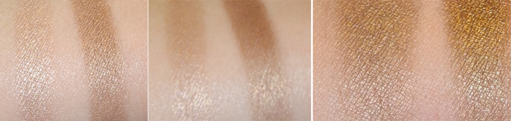 Rouge Bunny Rouge Eye Shadows in Rain Dove and Rufous-tailed Weaver Swatches 1