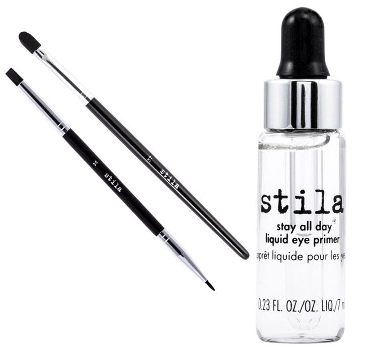Stila Makeup Collection for Spring 2014 eye primer and brushes