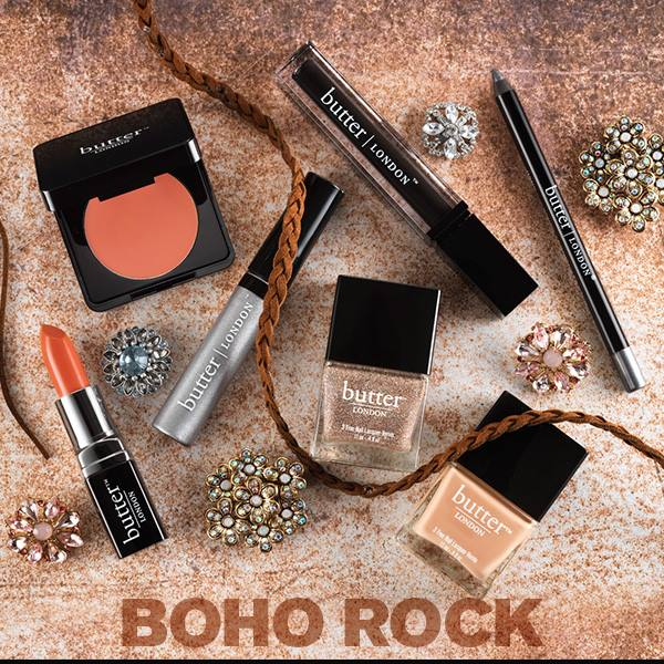 butter LONDON Boho Rock nail polish and makeup collection for Spring 2014 products