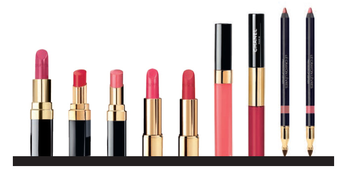 Chanel Le Rouge Makeup Collection  pinks and reds