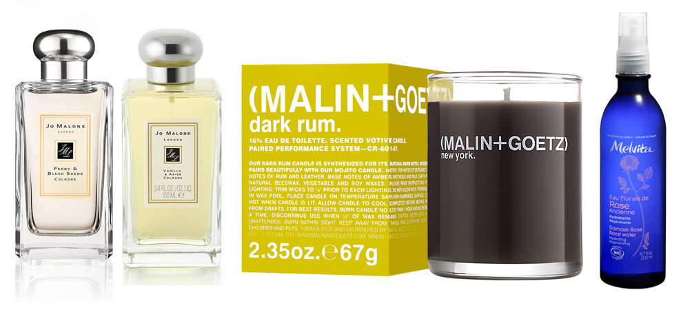 Jo Malone Peony & blush suade, vanilla and anise and malin and goetz  melvita makeup4all wish list
