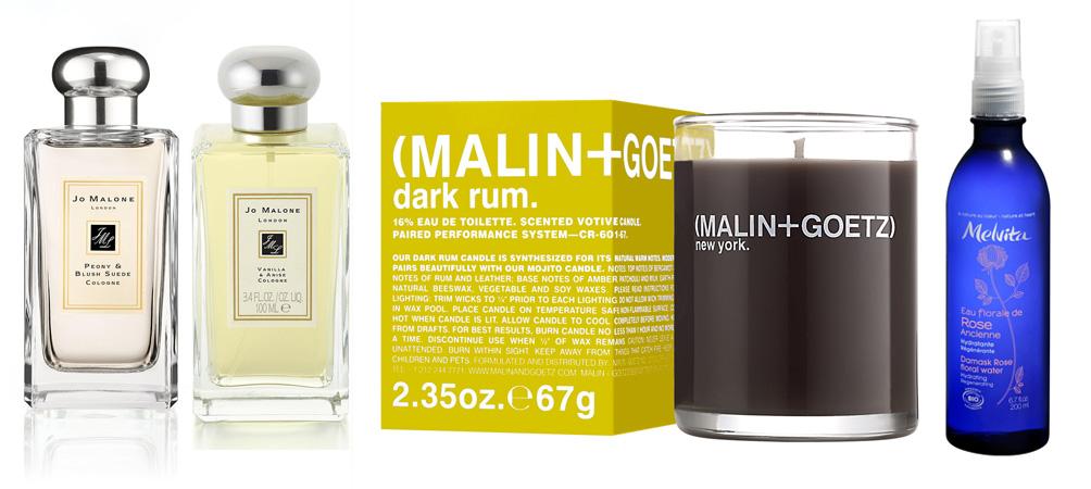 Jo Malone Peony & blush suade, vanilla and anise and malin and goetz  melvita makeup4all wish list