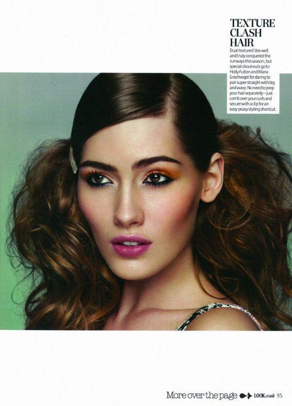 LOOK magazine Phoebe Jones shoots Sif Augustdottin  makeup4all inspiration
