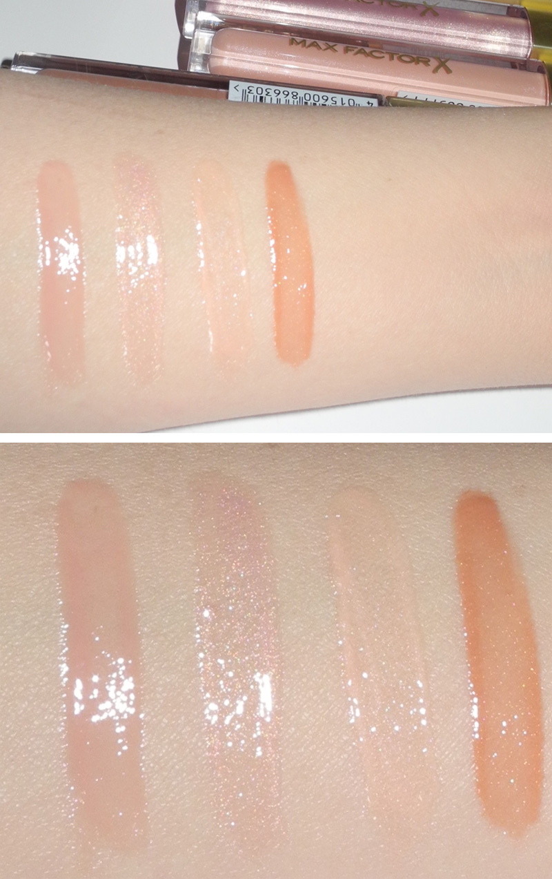 Max Factor Nude Pomade Lip Gloss Collection Review and Swatches 1