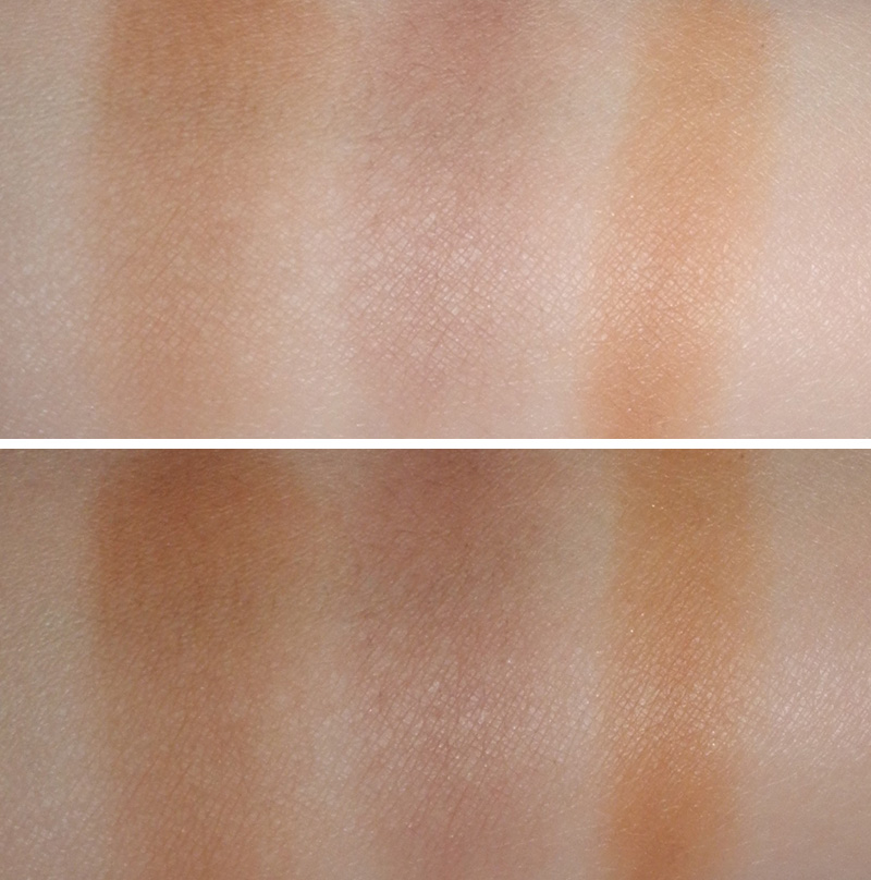 NYX Taupe Blush Review and Swatches benefit hoola and chanel bronze universel swatches