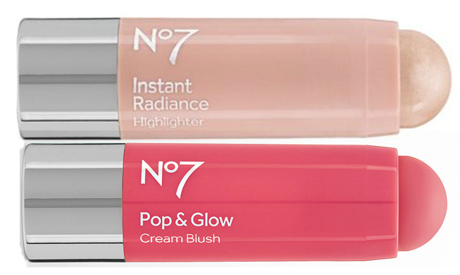 No7 Pop & Glow Cream Blush Stick and Instant Radiance Highlighter spring 2014