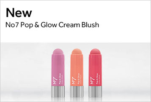 No7 Pop & Glow Cream Blush Stick shades