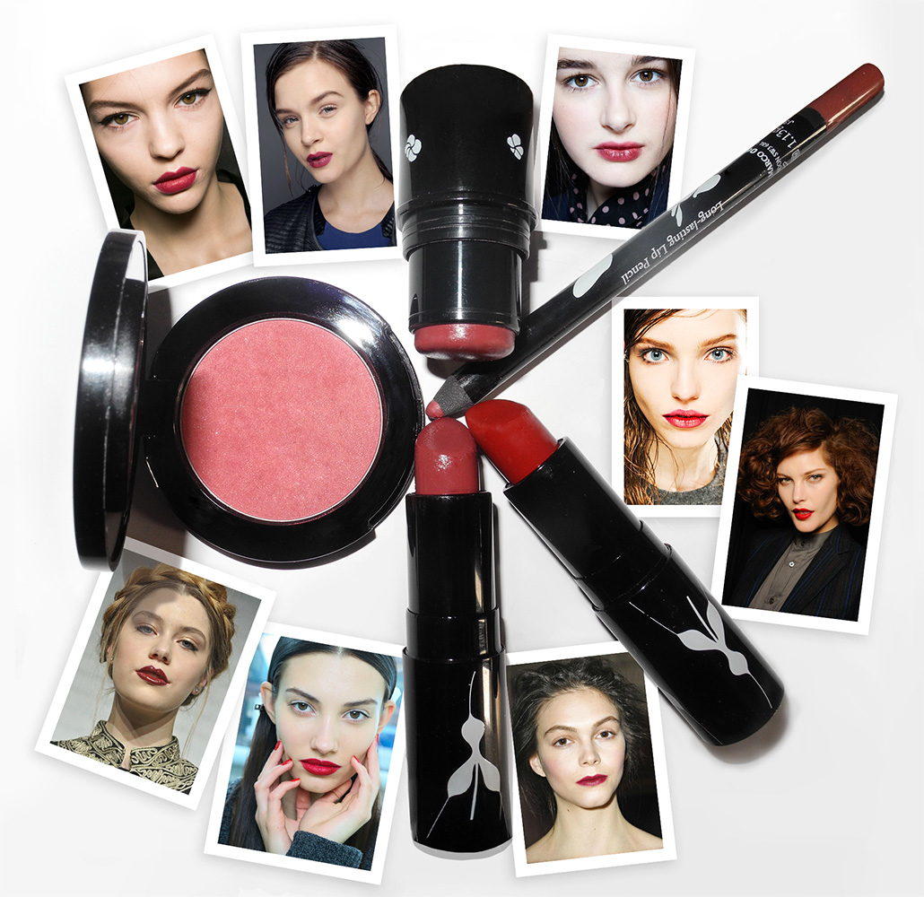Red and Berry lips and cheeks with Rouge Bunny Rouge Makeup4all