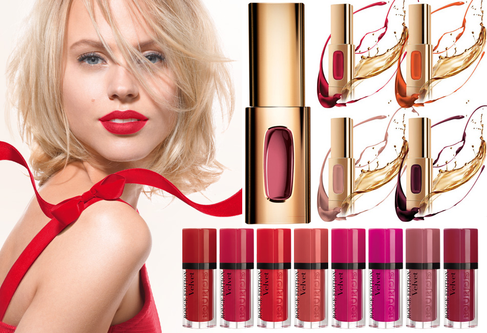 Spring 2014 lip products Color Riche Extraordinaire in Rose Melody by L'Oréal Paris  and Bourjois Rouge velvet
