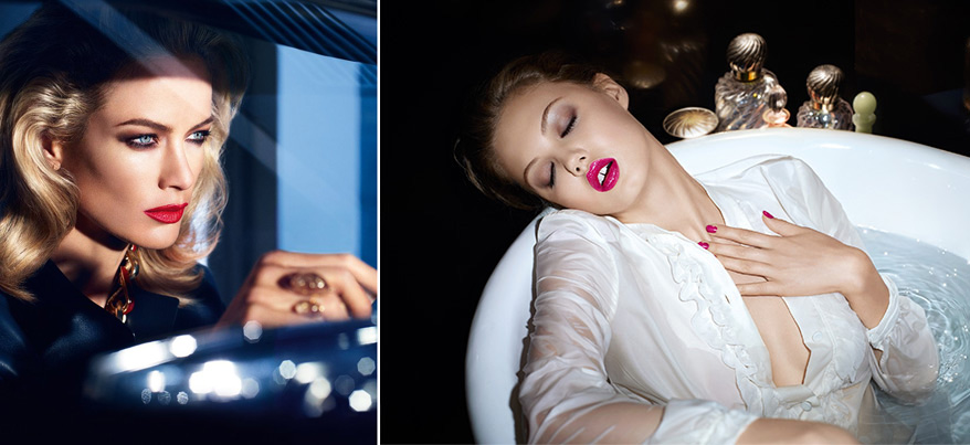 YSL Gloss Volupte 2014 and Estee Lauder Pure Color Envy Sculpting Lipstick spring 2014 promo