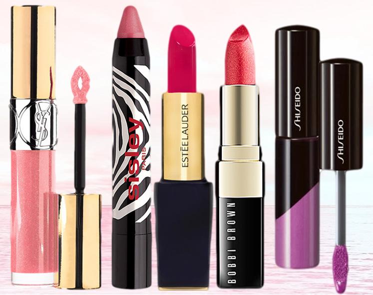 YSL, Sisley, Shiseido, Estee Lauder and Bobbi Brown lipsticks and glosse spring 2014