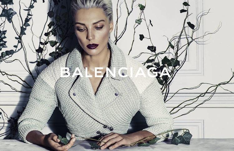 balenciaga ad campaign ss14 with Daria Werbowy