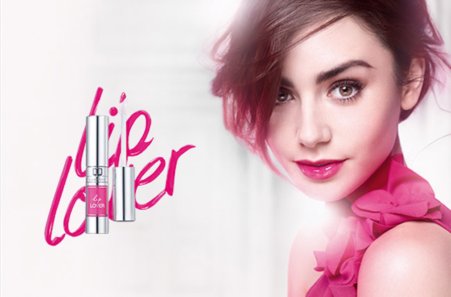 lanccome lip lover with lily Collins