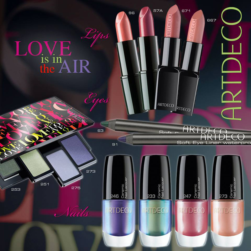 ArtDeco Love Is In The Air Makeup Collection for Spring 2014 products