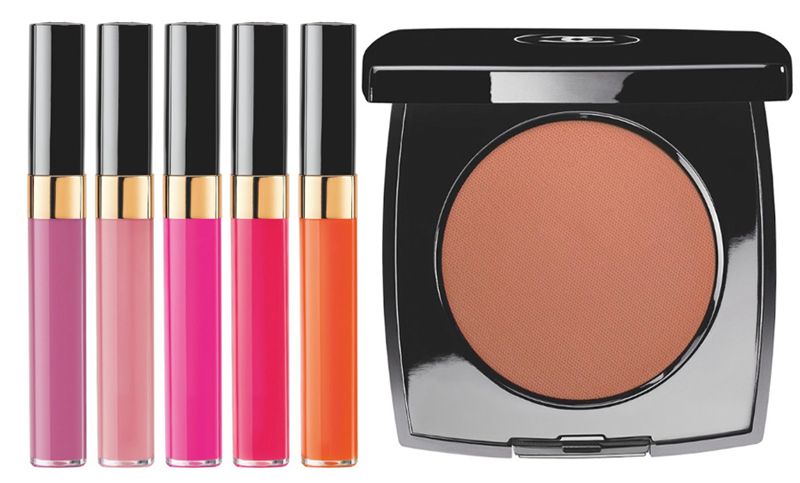 Chanel Reflets d'Été  de Chanel Makeup Collection for Summer 2014 glossimers and blush