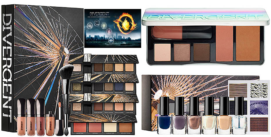 Divergent Cosmetics Line makeup and nail polishes tris and four