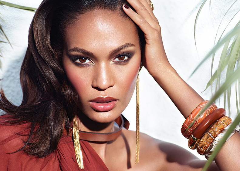 Estee Lauder Bronze Goddess Makeup Collection for Summer 2014 promo with Joan Smalls
