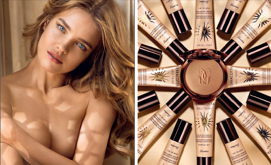 Guerlain Terracotta Makeup Collection for Summer 2014 promo with Natalia Vodianova