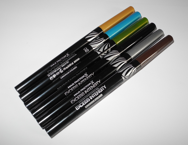 Max Factor Excess Intensity Longwear Eyeliner Review and Swatches of All Shades 2