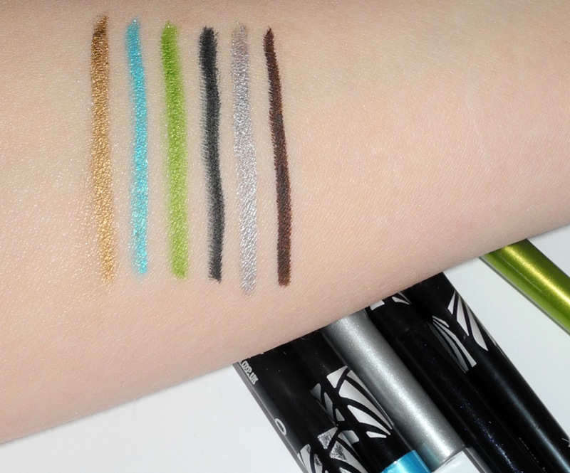 Max Factor Excess Intensity Longwear Eyeliner Review and Swatches of All Shades
