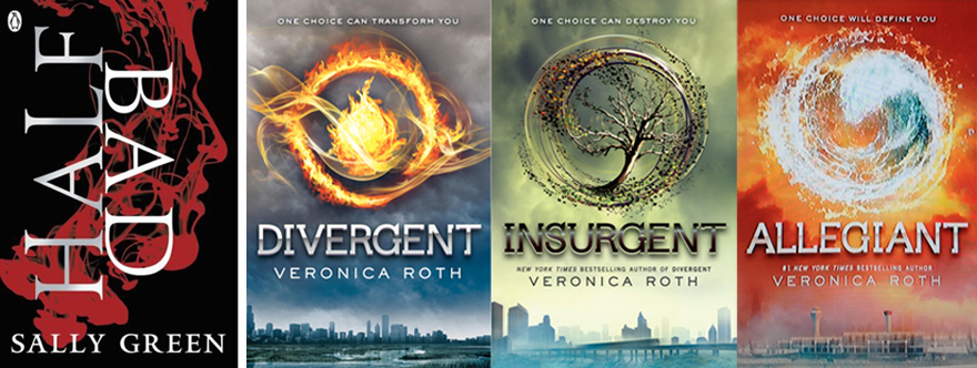 sally green half bad and veronica Roth divergent books