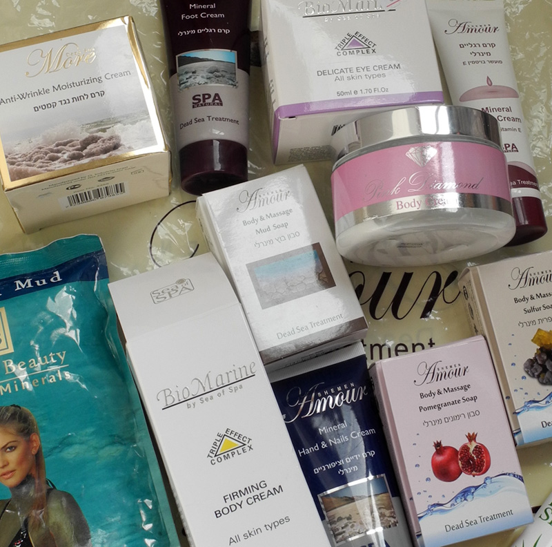Beauty products from dead sea