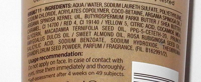 Garnier Oil Beauty Oil-Infused Nourishing Scrub Review ingredients