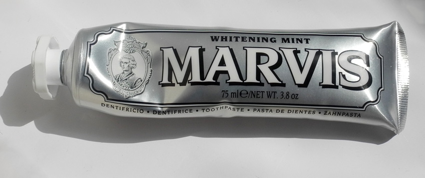 time to tome, which is why I've chosen Marvis Whitening Toothpaste