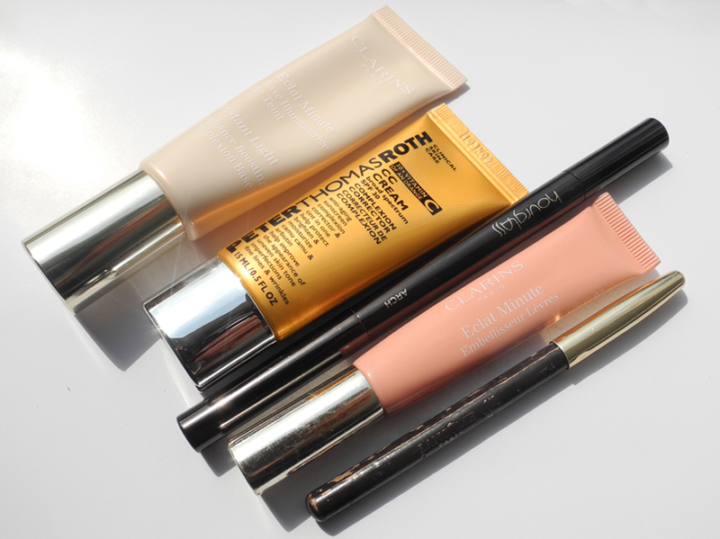My Current Top 5 Luxury Makeup Products clarins hourglass peter thomas roth lancome