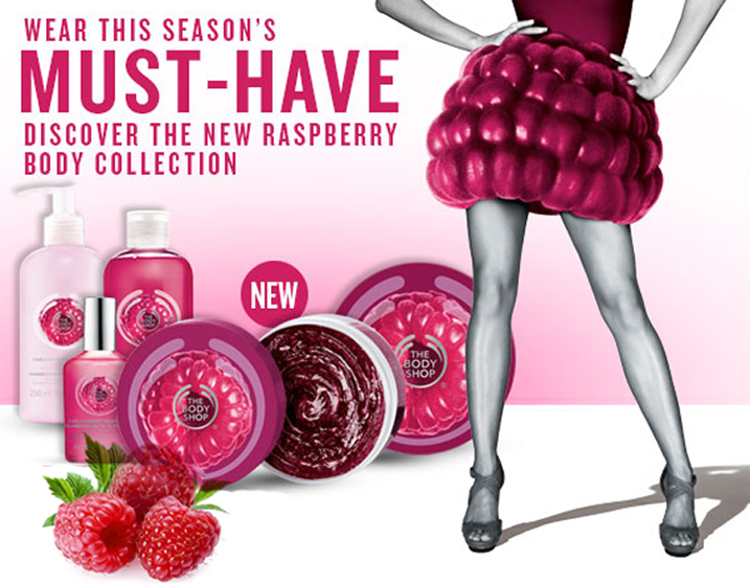 The Body Shop Raspberry Line wish list