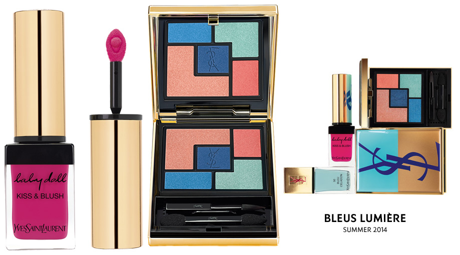 YSL Bleus Lumiere Makeup Collection for Summer 2014 products