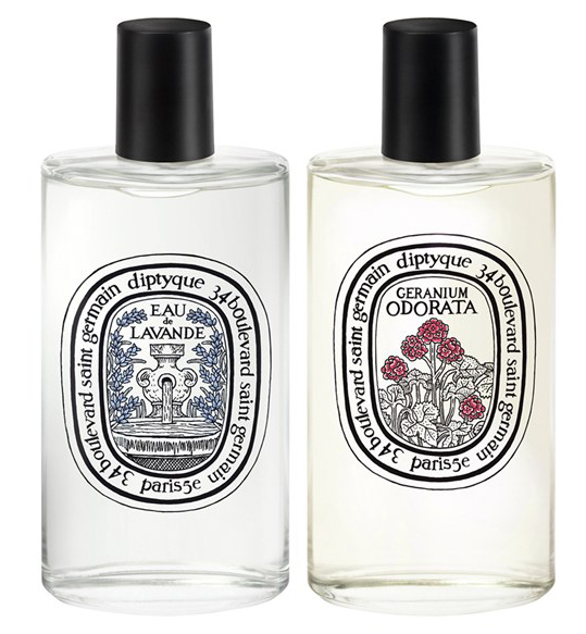 diptyque eau de  lavande and Geranium Odorata fragrances summer 2014
