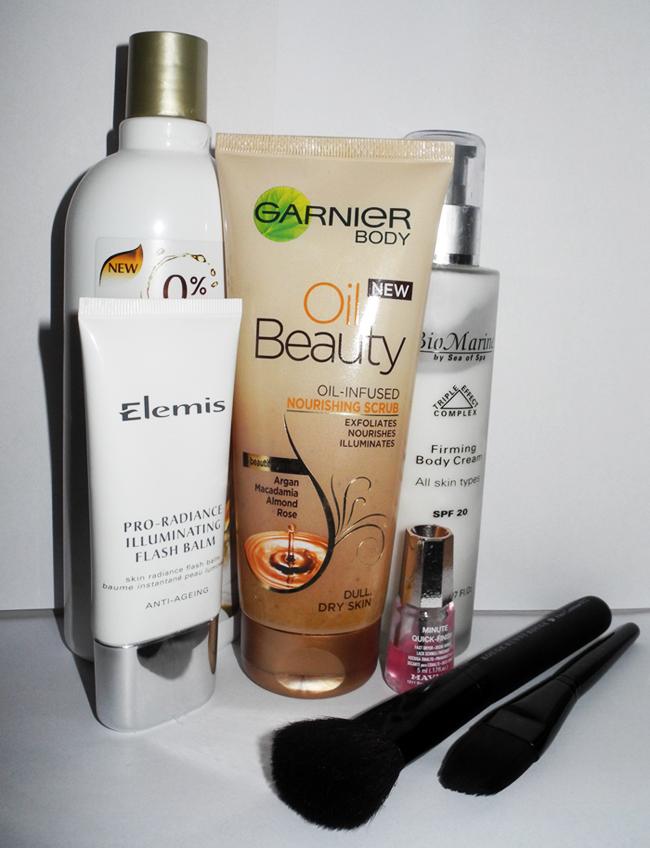 April 2014 Beauty Favourites makeup4all garnier, elemis Rouge bunny rouge timotei brushes