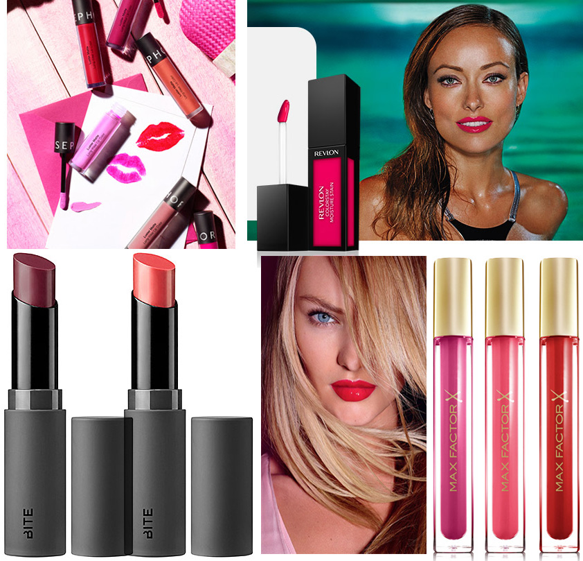 Summer 2014 Lip Products Max Factor, Revlon, BITE and Sephora