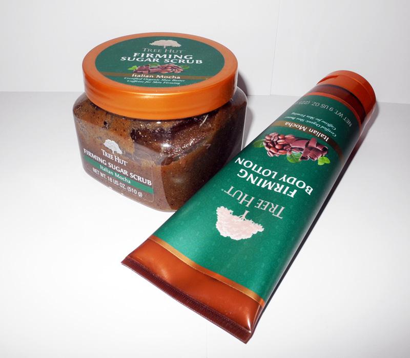 Tree Hut Italian Mocha Firming Sugar Scrub and Italian Mocha Firming Body Lotion Review